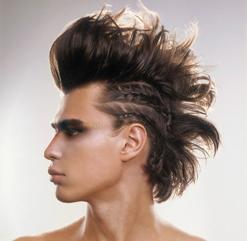 mens sexy faux hawk or fake mohawk haircuts mens hairstyles long hair.