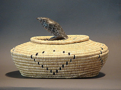 basket with bird