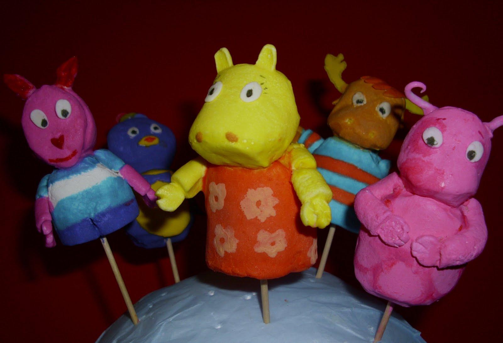 Tortas y Ponques Lucia: Los Backyardigans en masmelos
