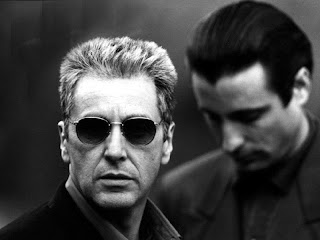 Don Michael Corleone with Vincent Mancini in The Godfather Part III