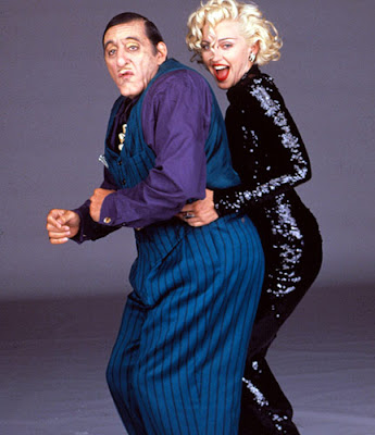Al pacino as big Boy Caprice in Dick Tracy, with Madonna