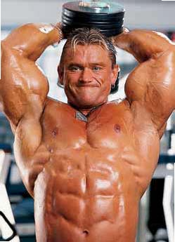 BODYBUILDING ROUTINES TRICEPS Lee Priest SEATED OVERHEAD DUMBBELL EXTENSION