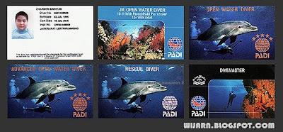 บัตรประจำตัวนักดำน้ำ