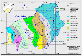 Figure 1 1 map of river basin in central kalimantan province