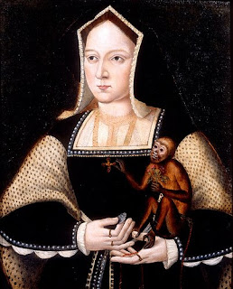 Catherine of Aragon with her monkey