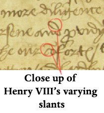 The raucous royals royal signatures what handwriting for Tudor signatures