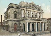 The Famous Theatre of Corfu that was burned down during the WWII