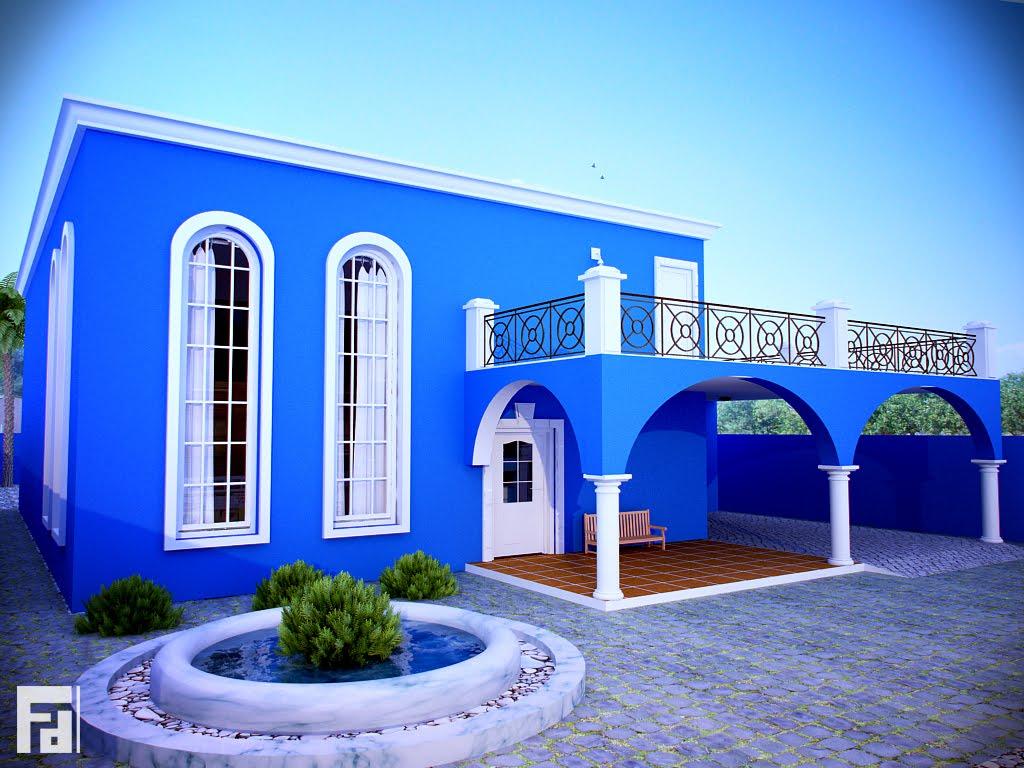 Estilo colonial fachadas coloniales de foto fachada casa - Estilos de fachadas de casas ...