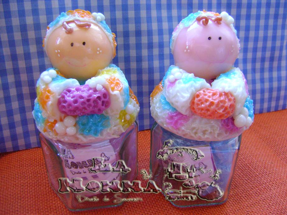 Set De Baño Para Souvenir:La Nonna Souvenirs Porcelana Fria: FRASCOS