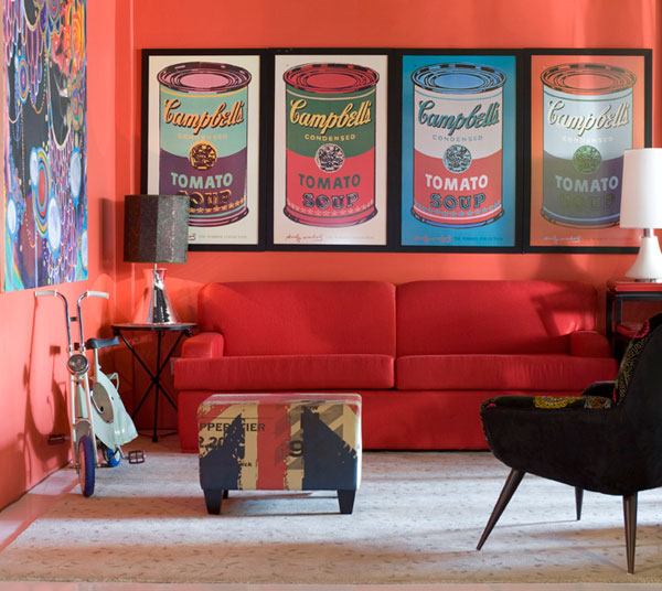 Vintage for Sala de estar estilo vintage