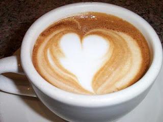 heart-shaped coffee design
