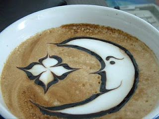 moon and star for fresh milk in coffee