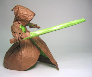 Yoda's green light saber activated