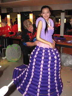 Cinderella with her new custom made ballon dress