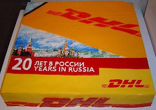 DHL anniversary cake