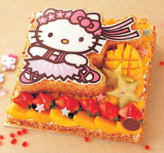 cute hello kitty mix fruit