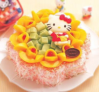 hello kittry cute cake