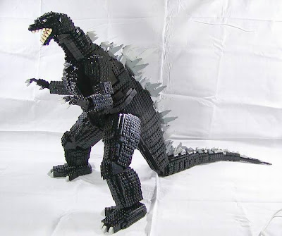 making a godzilla with Lego