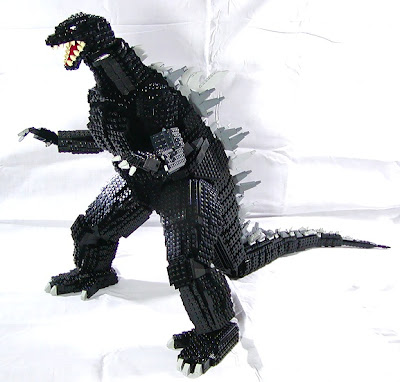 creating block toy as Godzilla