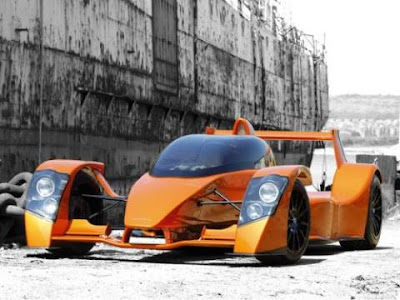 concept future racing car with advanced technology and safety