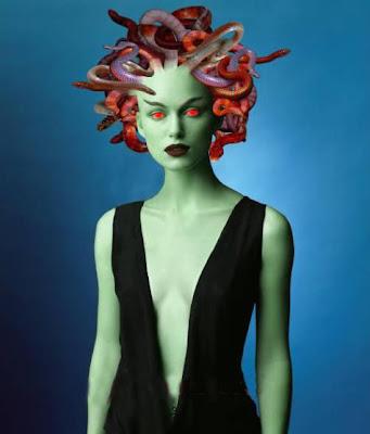 snake head woman