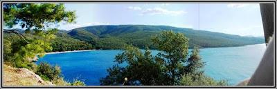 beach panorama view