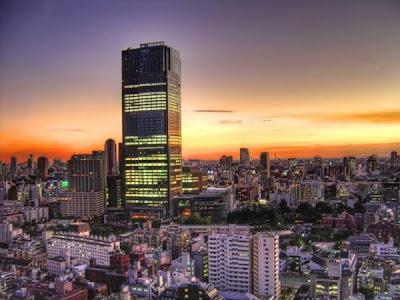 evening panorama of tokyo