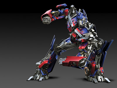 optimus prime with covered lip. the cover can be opened when he is talking
