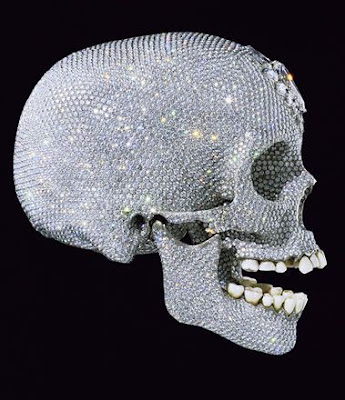 side view of diamond skull