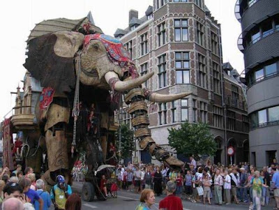 giant mechanical elephant in london