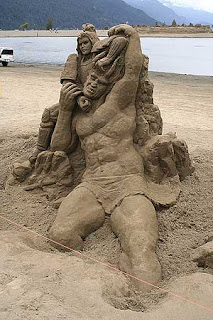 if you expert in building sand castle, you might want to participate this contest