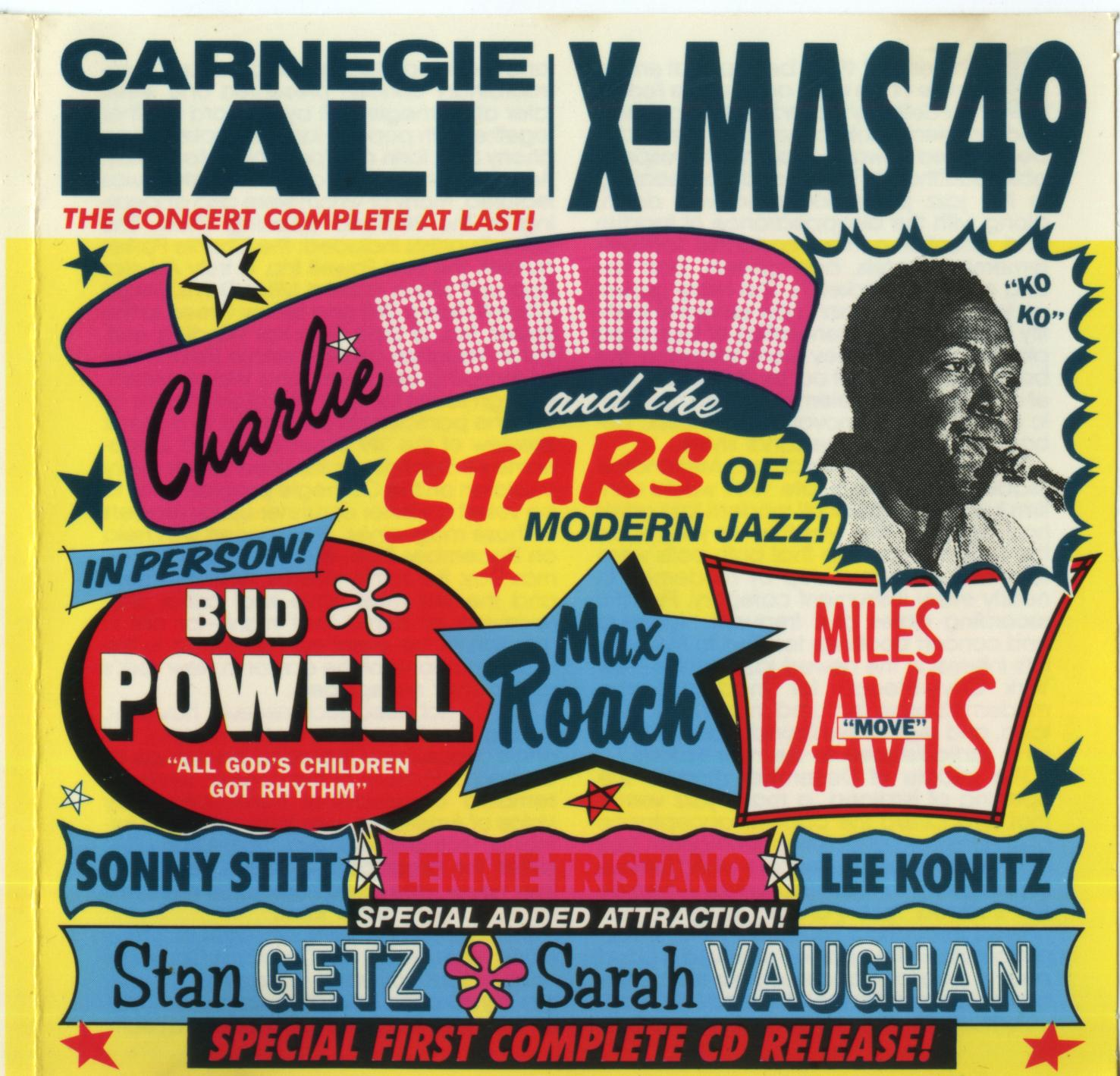 Charlie Parker and the Stars of Modern Jazz of Carnegie Hall Christmas 1949