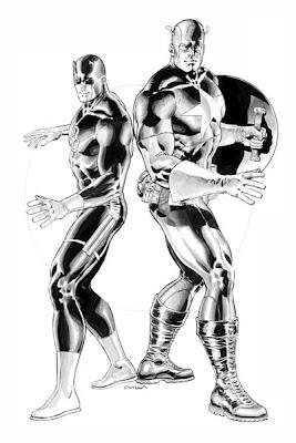 Daredevil & Captain America by Claudio Villa