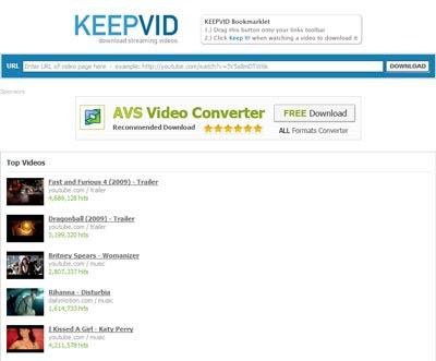 Internet: KeepVid
