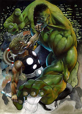 Hulk vs Thor by Arturo Lozzi