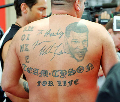 Mike Tyson tattoo-autographed my back!