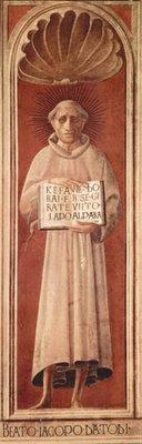 Jacopone da Todi in un affresco di Paolo Uccello nel duomo di Prato