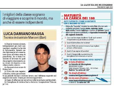 Luca Massa, diplomato Perito Informatico con 100/100