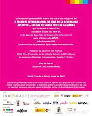 Inauguracion al II Festival Internacional de Cine DIVERSIDAD