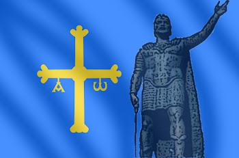 foto bandera de asturias: