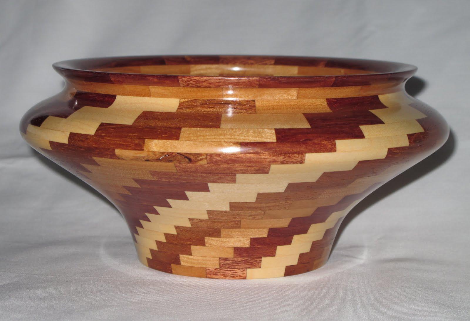 Segmented Wooden Vases Amp Bowls Segmented Cherry Jatoba