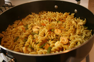 SHRIMP PASTA     INDIAN STYLE ;)