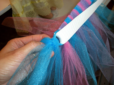 how to cut tulle straight