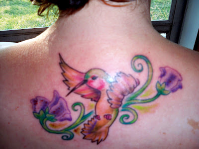 Hummingbird tattoo. Here's my new tattoo.