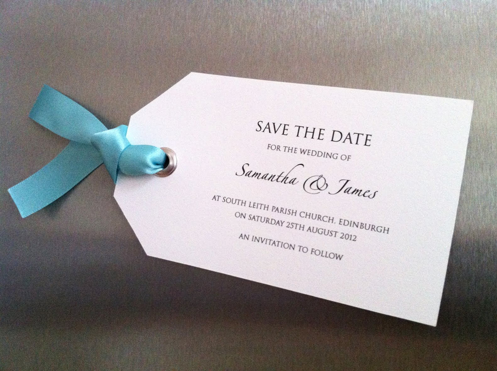 Save the date magnet | Welcome to the Twenty-Seven.Co.Uk Blog!