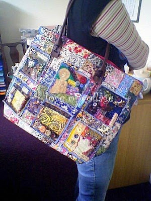 "finished patchwork bag (Theme Thursday ""beautiful"")"