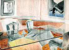 Rendering- Dining Room, Color Pencil