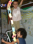 Adam & Noam decorating (Succot 2007)