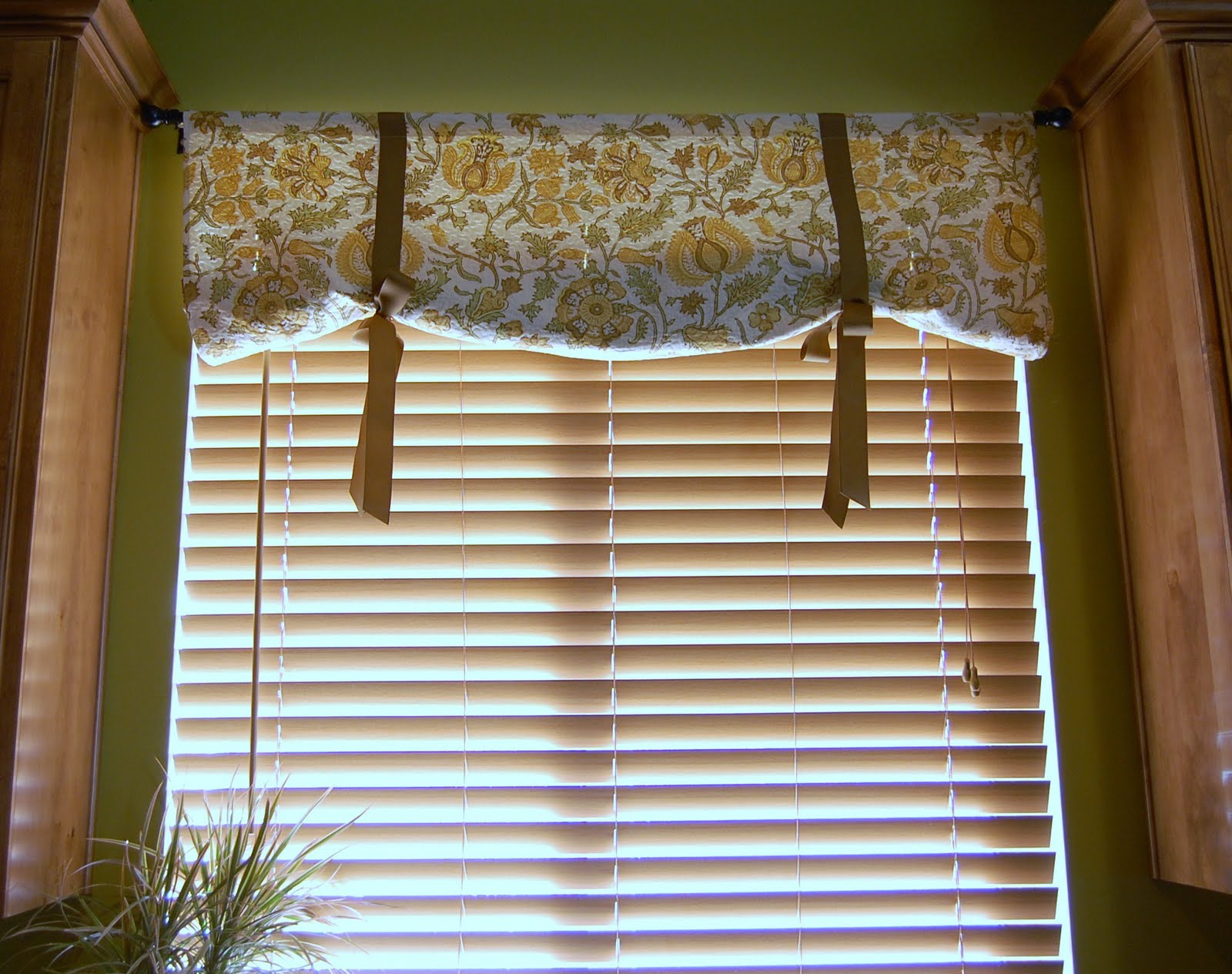 The audzipan anthology faux roman tie up shade with for Kitchen window curtains