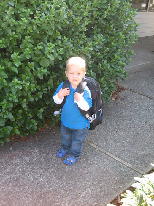 Jeffrey's First Day of Preschool